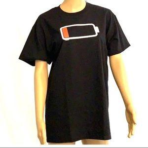 "💥4=$15 Lazy Daze Apparel ""Low Battery"" T-shirt"